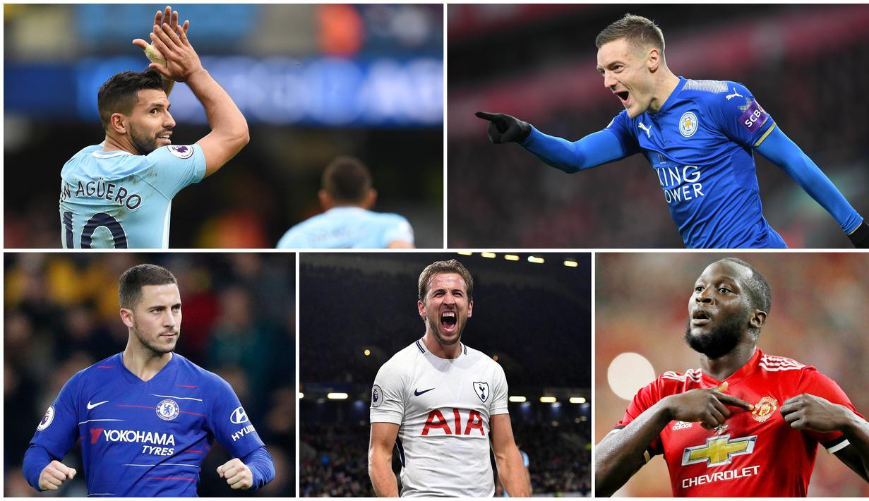 Berikut ini daftar pencetak gol terbanyak Premier League dalam kurun waktu satu dekade terakhir. Bomber Manchester City, Sergio Aguero, menjadi yang teratas dengan koleksi 173 gol. (Foto Kolase AP dan AFP)