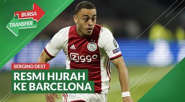 Berita Video Barcelona Resmi Datangkan Pemain Ajax Amsterdam, Sergino Dest
