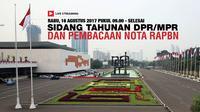 Live Streaming Sidang Tahunan MPR dalam Rangka HUT RI. (Liputan6.com/Triyasni)