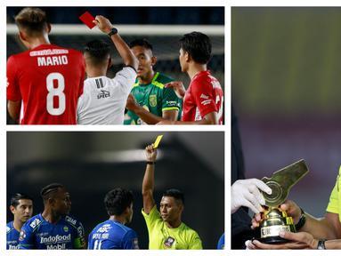 Piala Menpora 2021 memberikan penghargaan Wasit Terbaik kepada Agus Fauzan Arifin. Namun dibalik penghargaan tersebut banyak kontroversi yang terjadi. (Foto: Bola.com)