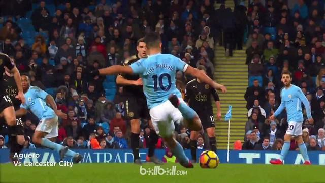 Manchester City memiliki 5 yang terbaik dari 85 gol yang dilesakkan Sergio Aguero dkk. This video is presented by Ballball.