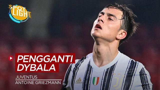 Berita video spotlight kali ini membahas tentang empat pemain yang bisa gantikan Paulo Dybala di Juventus.