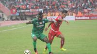 Persija lolos ke final Piala Presiden 2018 setelah mengalahkan PSMS Medan dengan agregat 5-1. (Bola.com/Ronald Seger)