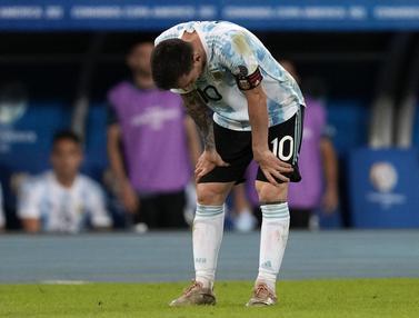 Foto Copa America: Gol Messi Tak Mampu Bawa Argentina Rebut Poin Penuh pada Laga Perdananya di Grup A CONMEBOL Copa America 2021
