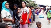 Pengungsi gempa Halmahera. (Liputan6.com/Hairil Hiar)