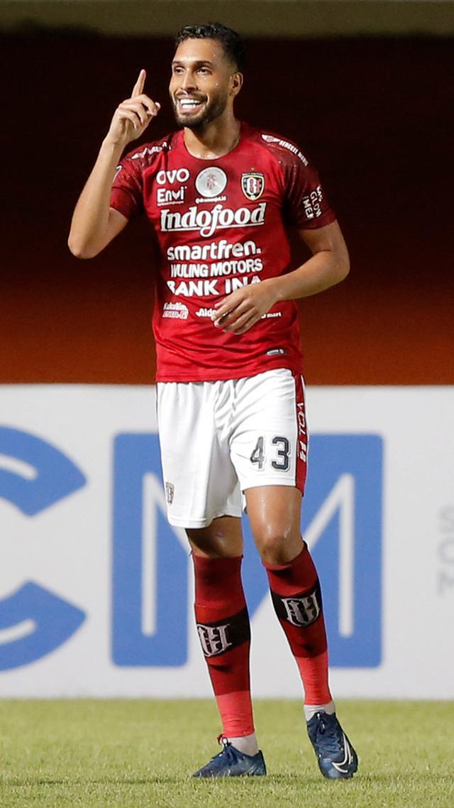 Selebrasi Pemain Bali United di Piala Menpora 2021 (Bola.com/Arief Bagus)