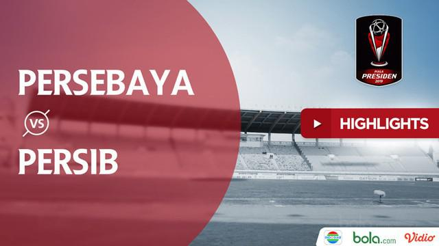 Berita video highlights grup A Piala Presiden 2019 antara Persebaya Surabaya melawan Persib Bandung yang berakhir dengan skor 3-2 di Stadion Si Jalak Harupat, Kamis (7/3/2019).