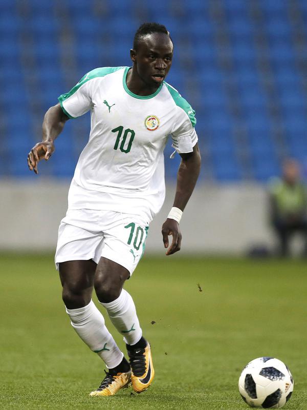 Sadio Mane ketika berkostum Timnas Senegal. (AFP/Charly Triballeau)