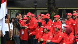 Presiden Joko Widodo melepas kontingen Indonesia untuk Asian Para Games 2018. Acara pelepasan digelar di halaman tengah Istana Merdeka pada Selasa, 2 Oktober 2018. (Kris - Biro Pers Setpres)