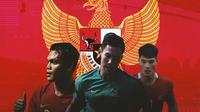 Timnas Indonesia - Rachmat Irianto, Ryuji Utomo, Elkan Baggot (Bola.com/Adreanus Titus)