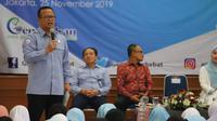 Menteri Kelautan dan Perikanan Edhy Prabowo melakukan Safari Gemarikan di Junior High Global Islamic School (GIS), Jakarta Timur. (Dok. KKP)