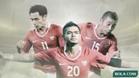 Ponaryo Astaman, Bambang Pamungkas dan Firman Utina. (Bola.com/Dody Iryawan)
