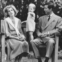 Putri Diana dan Pangeran Charles saat merayakan ulang tahun Pangeran William yang ke-2 pada di taman Istana Kensington (AP)