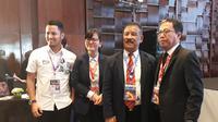 Joko Driyono (kanan) menggantikan Edy Rahmayadi sebagai ketua umum PSSI. (Liputan6.com/Dewi Divianta)