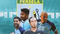 Persela Lamongan - Jabar Sharza, Gian Zola, Dwi Kuswanto, Ivan Carlos (Bola.com/Adreanus TItus)