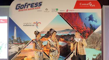 Gofress hadirkan 6 destinasi wisata Indonesia lewat kemasannya. (Sumber foto: Deki Prayoga/Bintang.com)