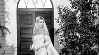 Gaun pengantin Off-White Hailey Bieber (Instagram @haileybieber)