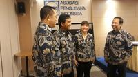 Pengurus Asosiasi pengusaha Indonesia (Apindo) dalam acara Reformasi dan Pengembangan Kualitas Sumber Daya Manusia untuk Memperkuat Kinerja Pertumbuhan 2019. (Dwi Aditya Putra/Merdeka.com)