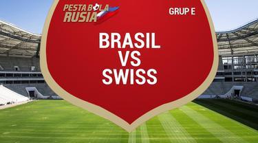 Timnas Brasil bermain imbang 1-1 lawan Swiss pada laga perdana penyisihan Grup E Piala Dunia 2018 di Rostov Arena.