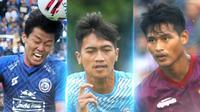 Liga 1 - Feby Eka Putra, Jayus Hariono, Septian Bagaskara (Bola.com/Adreanus Titus)