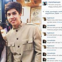 Marsha Aruan dan El Jallaludin Rumi (via instagram.com/marshaaruan/)