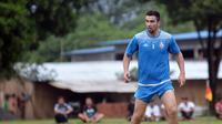 Pemain asing Arema FC, Ahmet Atayev. (Liputan6.com/Rana Adwa)