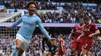 3. Leroy Sane (Jerman) - Mencetak 11 gol pada semua ajang bersama Manchester City. (AFP/Oli Scarff)