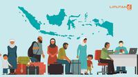 Banner Infografis Indonesia, Tempat Transit Pengungsi Global. (Liputan6.com/Abdillah)