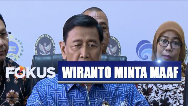 Pernyataan Wiranto ini sempat menuai reaksi di media sosial. Wiranto mengatakan dia tidak sengaja melontarkan pernyataan tersebut.