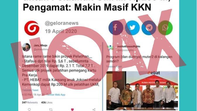 Kementerian Koperasi dan UKM pastikan postingan pemberian dana ke perusahaan Kaesang hoaks