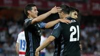 James Rodriguez dan Alvaro Morata jadi bintang kemenangan Real Madrid atas Granada. (doc. Real Madrid)