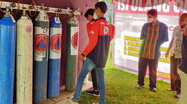 Layanan Isi Oksigen Gratis di Malang Langsung Diserbu Warga