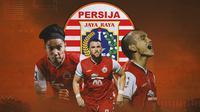 Persija Jakarta - Novri Setiawan, Marko Simic, Riko Simanjuntak (Bola.com/Adreanus Titus)