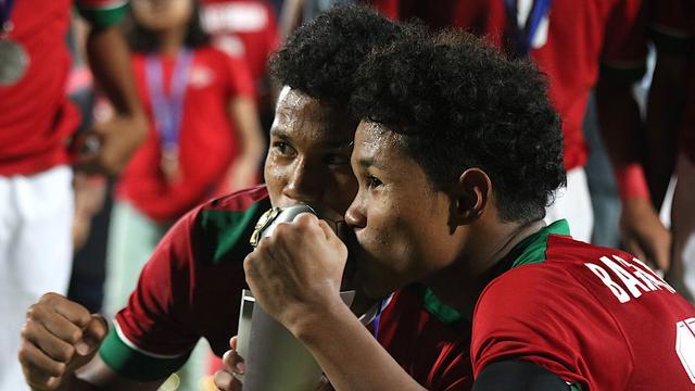 Bagus Kahfi dan Bagas Kaffa Piala AFF U-16 2018.