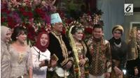 Indra Bekti dan Fitri Tropica berfoto bersama Kahiyang Ayu-Bobby Nasution (Foto: Dok. Liputan6.com)