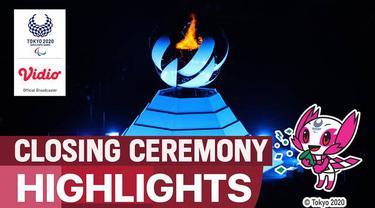 Berita video closing ceremony Paralimpiade Tokyo 2020, Minggu (5/9/2021).
