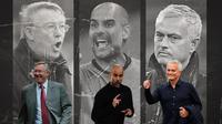 Ilustrasi - Sir Alex Ferguson, Pep Guardiola, Jose Mourinho (Bola.com/Adreanus Titus)