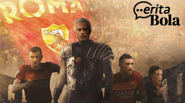 Cerita Bola - Jose Mourinho Gladiator AS Roma (Bola.com/Adreanus Titus)