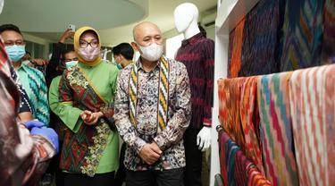 Menteri Koperasi dan UKM Teten Masduki saat melakukan kunjungan kerja ke Gedung UMKM Center Kota Pontianak, Minggu (28/3/2021).
