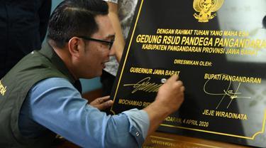 Ridwan Kamil Meresmikan RSUD Pandega Pangandaran
