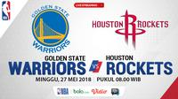 Jadwal NBA, Golden State Warriors Vs Houston Rockets. (Bola.com/Dody Iryawan)