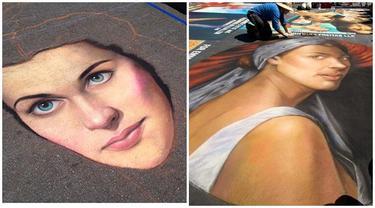 6 Lukisan Wajah 3D di Jalanan Ini Unik dan Kreatif, Menipu Mata