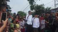 Jokowi dan Ma'ruf Amin menggelar deklarasi kemenangan Pilpres 2019 di Kampung Deret, Johar Baru, Selasa (21/5/2019)