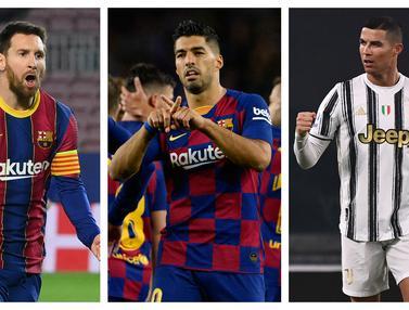 FOTO: 7 Striker Pencetak Hattrick Terbanyak di Abad ke-21, Cristiano Ronaldo Ungguli Lionel Messi