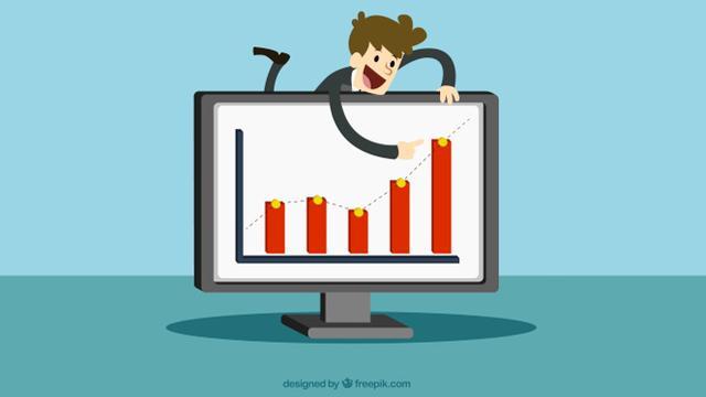 Ilustrasi Grafik Perkembangan, Penjualan, dan atau Pencapaian Perusahaan
