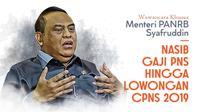 Wawancara Khusus Menteri PANRB Syafruddin. (Abdillah)