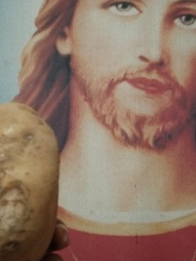 Wajah Yesus di Kentang