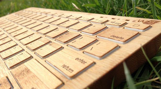Keyboard bluetooth yang terbuat dari kayu. (Doc: Indiegogo)