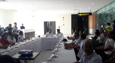 Menteri Perhubungan (Menhub) Budi Karya Sumadi pagi ini melakukan tinjauan ke Bandara Internasional Kertajati Jawa Barat (BIJB), Majalengka.