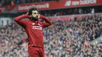 3. Mohamed Salah (Liverpool) - Pemain asal Mesir ini tampil apik dan mencetak satu gol ke gawang FC Porto. Penampilan efektif membuat Liverpool menang besar di kandang FC Porto. (AP/Rui Vieira)